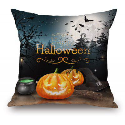 Buy COLORMIX Pumpkin Face Printed Sofa Halloween Pillow Case for $8.59 in GearBest store