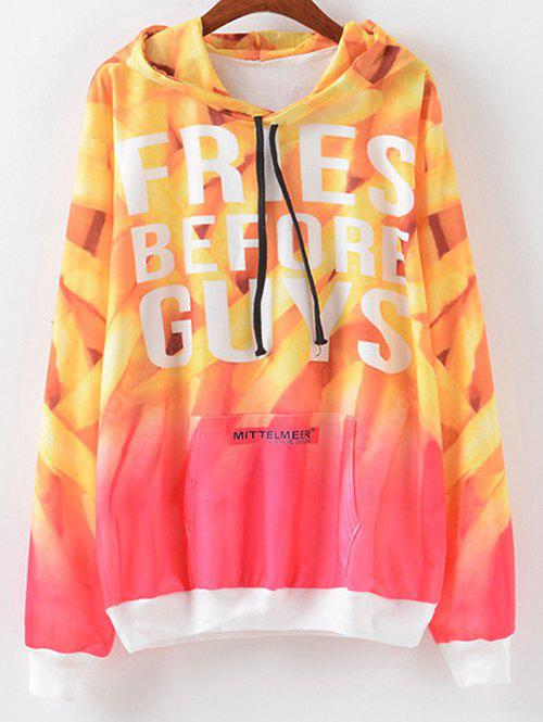 Ombre Lettre Print Hoodie