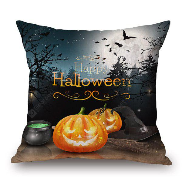Pumpkin Face Printed Sofa Halloween Pillow Case