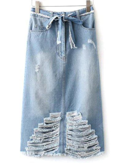 Frayed Jean Rock