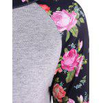 3D Floral Raglan Sleeve T-Shirt deal