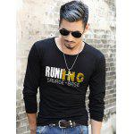 Buy BLACK, Apparel, Men's Clothing, Men's T-shirts, Men's Long Sleeves Tees for $11.08 in GearBest store