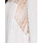best Asymmetrical Bell Sleeve Openwork Blouse