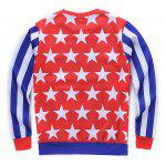 cheap Round Neck 3D Star and Stripe Tatto Girl Print Long Sleeve Sweatshirt
