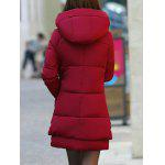 Buy Hooded Puffer Coat L WINE RED