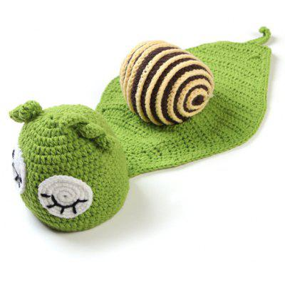 Cartoon Snail Shape Hand Knitted Baby Blankets