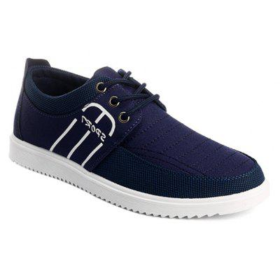 Buy DEEP BLUE Splicing Stitching Lace-Up Casual Shoes for $20.81 in GearBest store