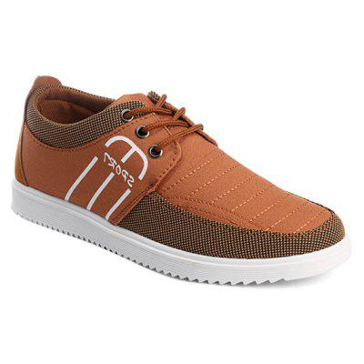 Buy BROWN Splicing Stitching Lace-Up Casual Shoes for $25.08 in GearBest store
