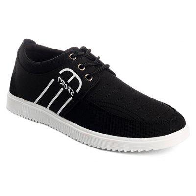 Buy BLACK Splicing Stitching Lace-Up Casual Shoes for $25.08 in GearBest store