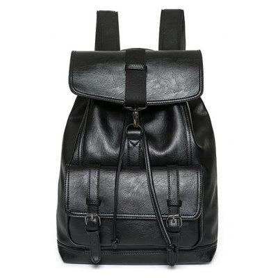 Buckle Strap Drawstring Backpack