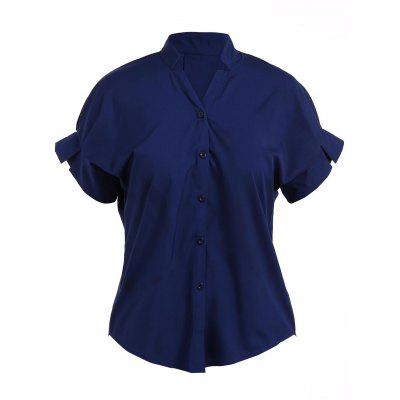 Casual Short Split Sleeve Shirt