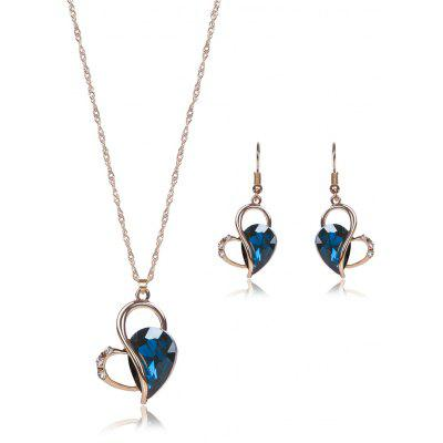 Hollow Out Faux Crystal Jewelry Set