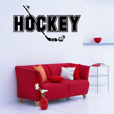 Removable Waterproof HOCKEY Word Sports Wall Decals For BedroomsWall Stickers<br>Removable Waterproof HOCKEY Word Sports Wall Decals For Bedrooms<br><br>Feature: Removable<br>Functions: Decorative Wall Stickers<br>Material: PVC<br>Package Contents: 1 x Wall Sticker<br>Size(L*W)(CM): 42*22<br>Theme: Words/Quotes<br>Wall Sticker Type: Plane Wall Stickers<br>Weight: 0.120kg