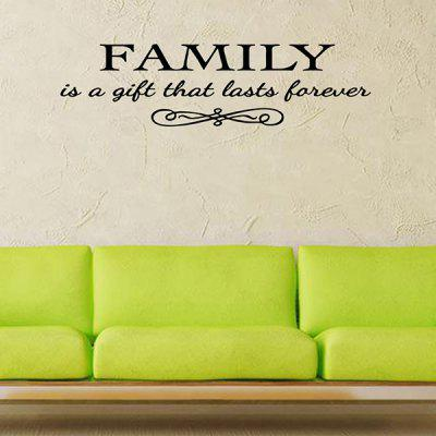 ... Vinyl Family Proverbs Waterproof Removable Wall Stickers ...