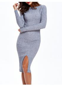 Cable-Knit Furcal Double-Wear Dress