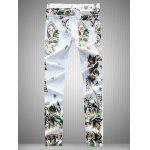 cheap Slim Fit All Over Flower Printed Skinny Jeans