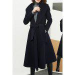 cheap Wool Blend Long Wrap Coat