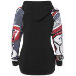 cheap Graffiti Pattern Front Pocket Hoodie