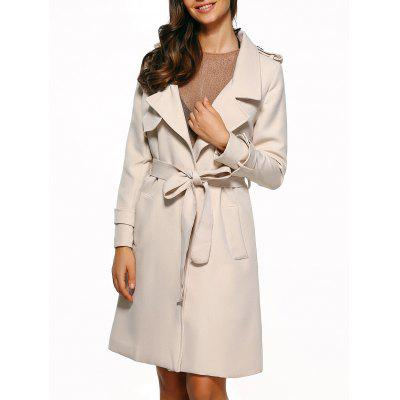 Self-Tie Epaulet Trench Coat