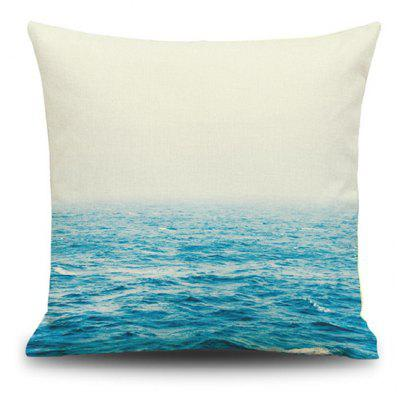 Home Decor Ocean Square Pattern Pillow Case