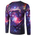 cheap Round Neck 3D Print Galaxy T-Shirt