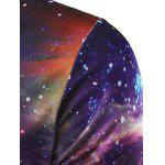 best Round Neck 3D Print Galaxy T-Shirt