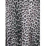 Plunging Neck Leopard Print Plus Size Dress for sale
