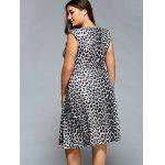 Plunging Neck Leopard Print Plus Size Dress deal