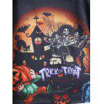 Raglan Sleeves Halloween Printed T-Shirt for sale