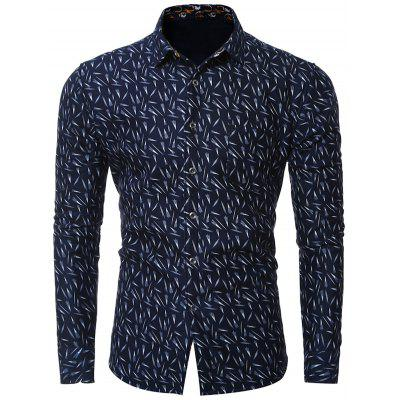 Plus Size Print Long Sleeve Shirt