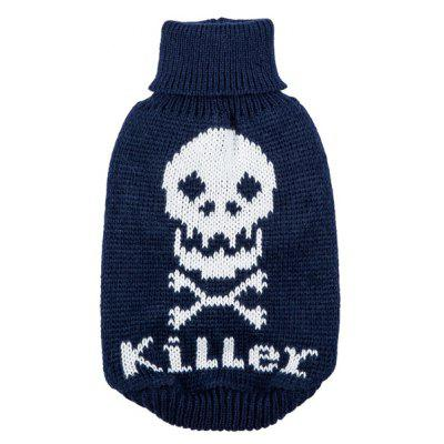 Skull Sweater Clothes Puppy Apparel Costumes