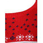 Snowflake Deer Jacquard Round Neck Sweater for sale