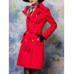 cheap Button Up Belted Skirted Coat