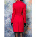 Button Up Belted Skirted Coat deal