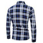 Plus Size Pocket Embellished Long Sleeve Plaid Shirt deal
