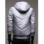 Hooded Rib Splicing Zip-Up Padded Jacket deal