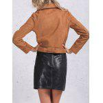 Zip Pocket Faux Suede Jacket deal