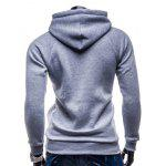 IZZUMI Raglan Sleeve Paneled Pullover Hoodie - GREY AND WHITE AND BLUE
