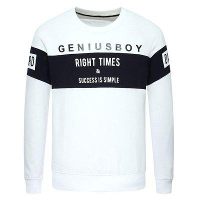 Geniusboy Print Stitching Cotton Sweatshirt