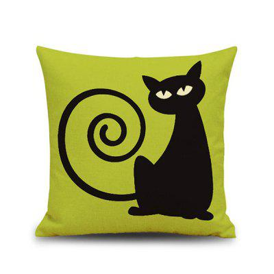 Home Decor Cat Printed Car Sofa Cushion Pillow Case