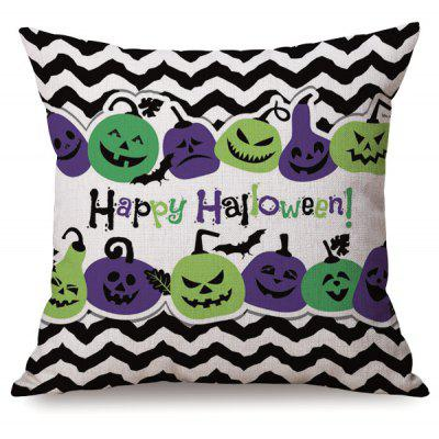 Buy COLORMIX Antibacteria Halloween Sofa Cushion Wave Stripe Pumpkins Printed Pillow Case for $8.24 in GearBest store