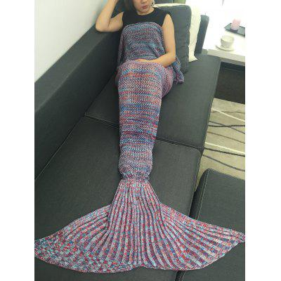 Home Decor Knitted Bedding Wrap Mermaid Blanket