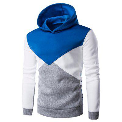 Slim Fit Color Block Pullover Hoodie
