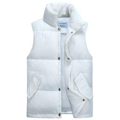 Casual collare del basamento addensare Cotton-Padded Gilet
