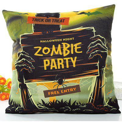 Buy COLORMIX Halloween Zombie Party Printed Pillow Case for $6.59 in GearBest store
