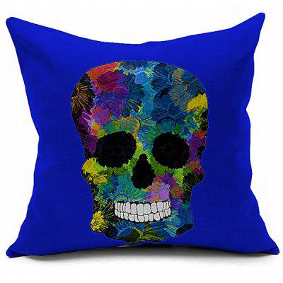 Retro Halloween Colorful Skull Printed Sofa Cushion Pillow Case