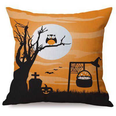 Durable Halloween Owl Sofa Cushion Printed Pillow Case