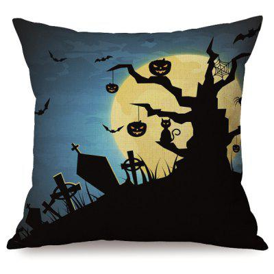 Durable Halloween Night Sofa Cushion Pumpkins Printed Pillow Case