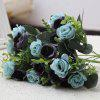 Wedding Party 10 Heads Artificial Rose Flower - BLUE