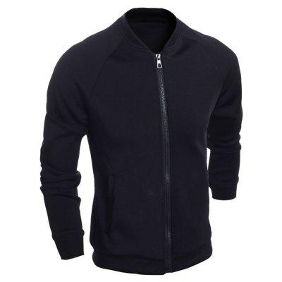 Brief Raglan Sleeve Zipper Up Jacket